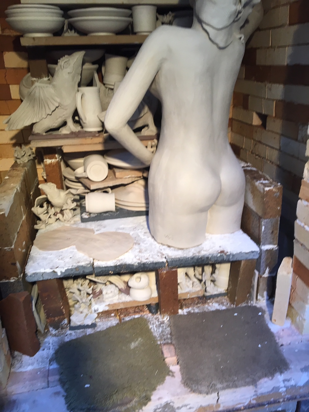 Nymph going in kiln